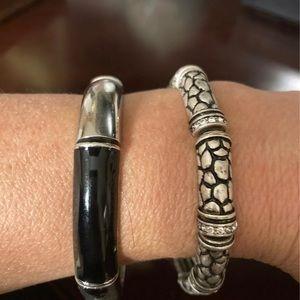 Lia Sophia Set of two elastic bangles